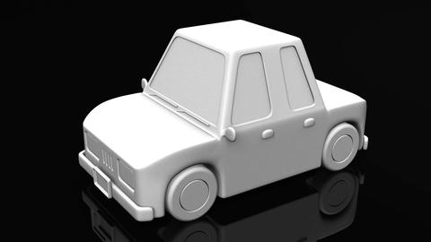 Car On Black Background Animation