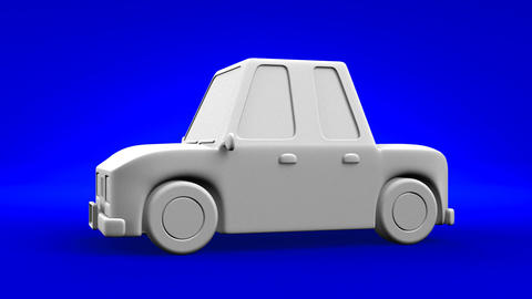 Car On Blue Background Animation