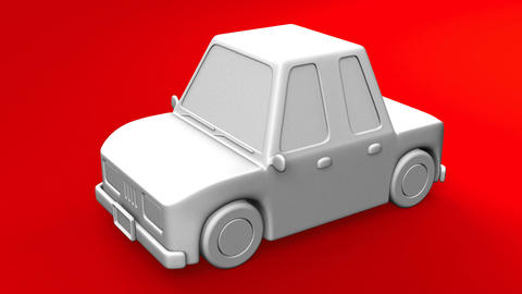 Car On Red Background Animation