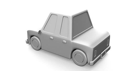 Car On White Background Animation