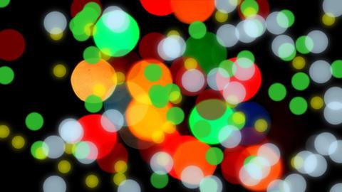 Glittering bokeh lights Animation