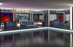 Virtual TV Studio News Set 16 3D Model