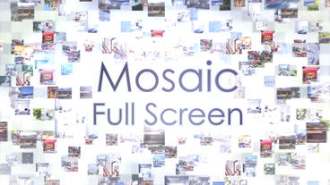 Mosaic Full Screen – Apple Motion and Final Cut Pro X Template Apple Motionテンプレート
