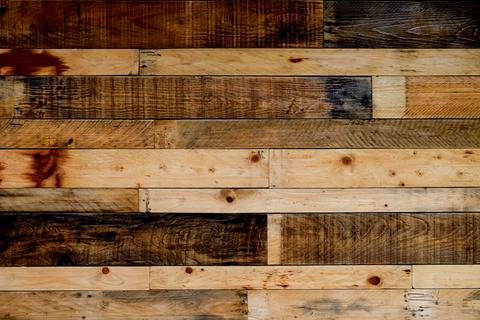Texture wooden pallets background フォト
