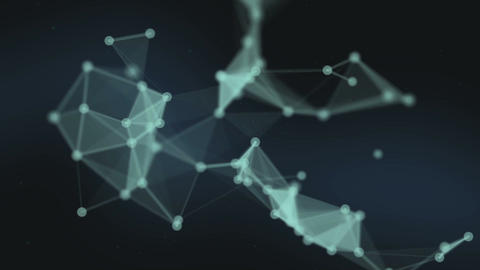 Abstract network connection background. Technology and Connectivity Concept. Mol Animation
