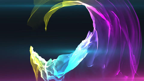 Abstract colorful satin background animation CG動画素材