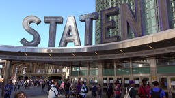 USA New York City south Manhattan; the terminal of Staten Island Ferry Footage