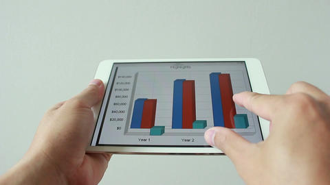 Business graph Filmmaterial