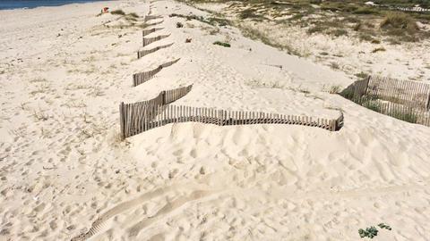 Sand dunes and Beach in Esmoriz, Ovar - Portugal Footage