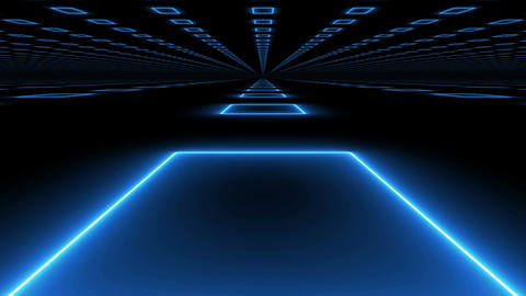 Modern abstract futuristic background on black Animation