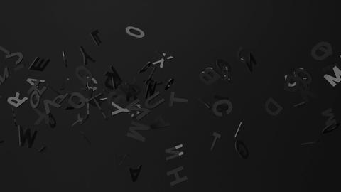 Black Alphabets On Black Background CG動画
