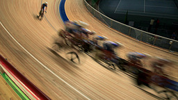 Bicycle Race blurred motion Live Action