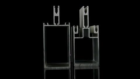 Aluminium profile sample Footage