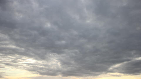 Clouds Building in a Morning Sky Footage