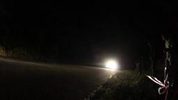 Car rally going with speed on a winding mountain road during a competition 11 Live Action