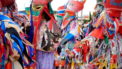Phi Ta Khon (Ghost Festival), festivals held in Dan Sai,... Stock Video Footage