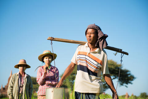 Group of Traditional Asian farmers Photo