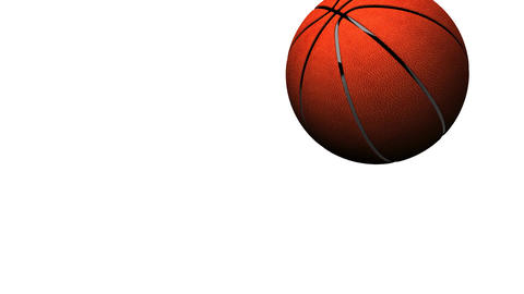 Bouncing BasketBall On White Background Animation