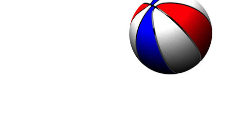 Bouncing Color BasketBall On White Background Animation