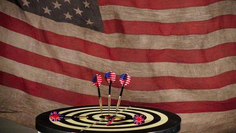 Darts And American Flag Filmmaterial
