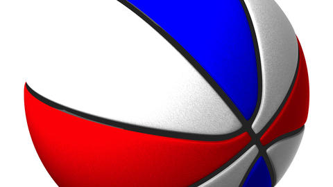 Color Basket Ball On White Background Animation
