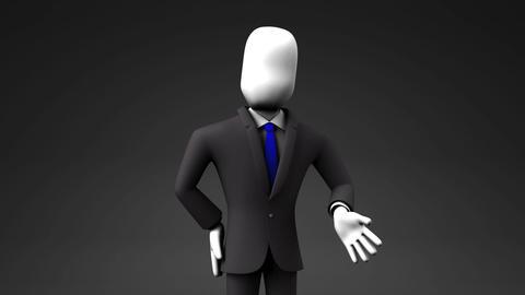 Businessman Who Introduce Information Animación