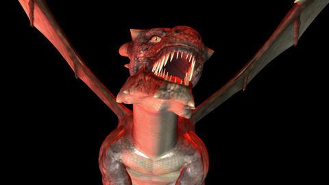 Digital 3D Animation of creepy Dragon Image