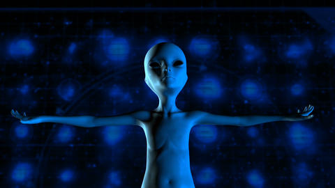 Digital 3D Animation of an Alien Image