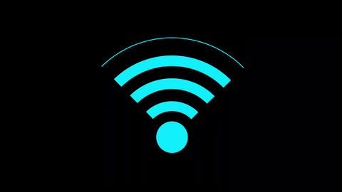 icon connecting to wifi point Animation