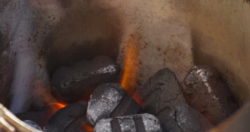 Barbecue Briquettes Footage