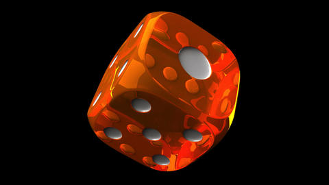 Orange Dice On Black Background Stock Video Footage