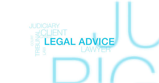 Legal advice. Blue Text-Intro. 4K Animation