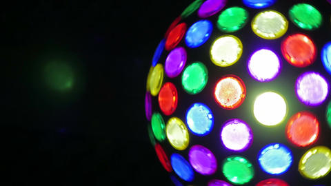 night club Party lights disco ball. colorful dance floor lights Footage