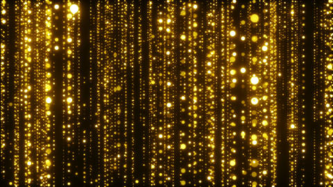 Golden Sparkling Particles Background Animation