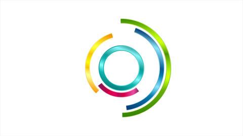 Glossy colorful loading waiting logo video animation Animation