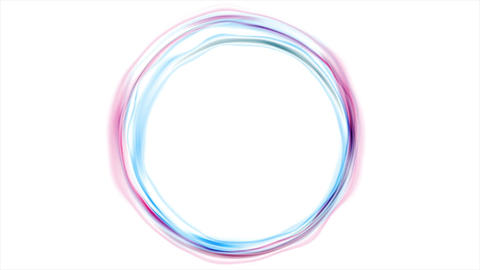 Colorful glowing pink blue neon circles video animation CG動画素材