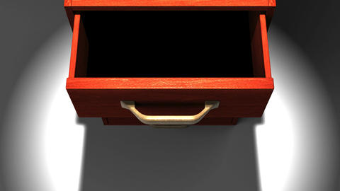 Spotlighted Drawer Stock Video Footage