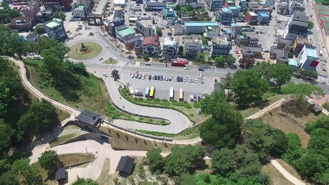 Gongju-si Korea Heritage Site Footage