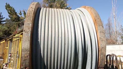 Steel cable reel Footage