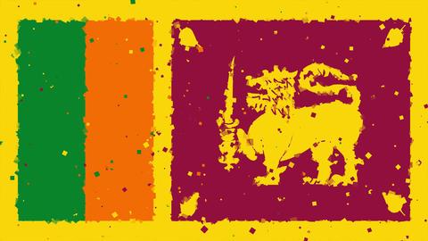 celebratory animated background of flag of Sri Lanka appear from fireworks Animation
