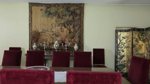 House dining table Footage