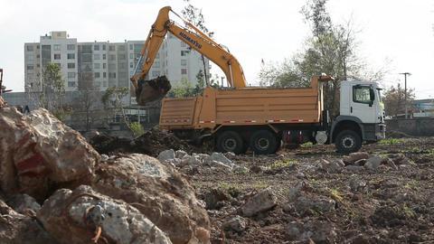 Construction site excavation Footage