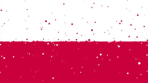celebratory animated background of flag of Poland appear from fireworks Animation