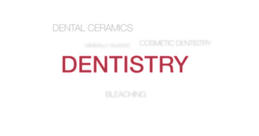 Text Animation. Intro Dentistry. Red infographic. 4K Animation