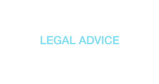 Legal advice. Blue Text Animation. 4K Animación