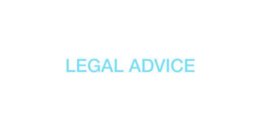 Legal advice. Blue Text Animation. 4K Animation