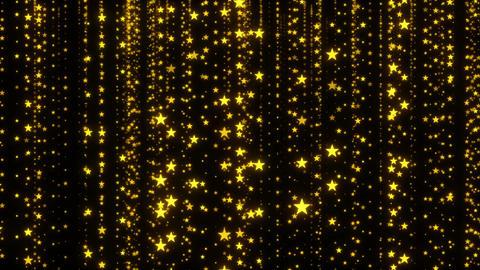 Golden Sparkling Stars Background Animation