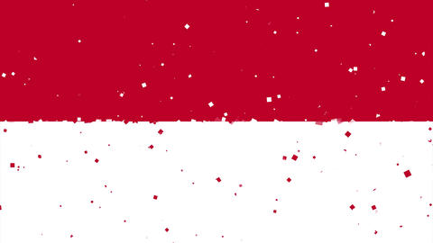 celebratory animated background of flag of Monaco appear from fireworks Animation