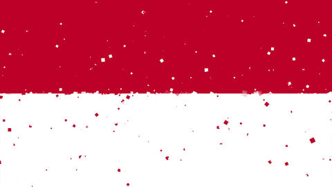 celebratory animated background of flag of Indonesia appear from fireworks Animation