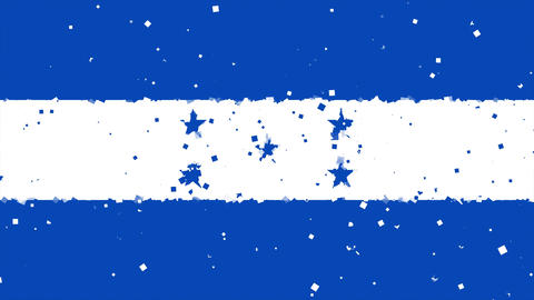 celebratory animated background of flag of Honduras appear from fireworks Animation